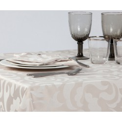 Mantel Corinto color intenso 60% poliéster/40% algodón